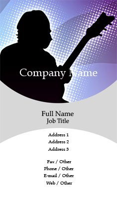 Guitar Player Business Card Template
